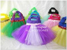 dulcera cumpleaños piñata bolsas princesas tutu fiesta dulce