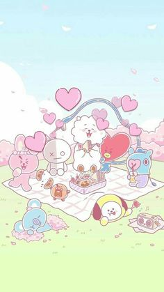 Pin by orn-in rin on goodnotes wallpaper in 2019 Bts Chibi, Kawaii Wallpaper, Bts Wallpaper, Iphone Wallpaper, Baby Popo, Bts Drawings, Line Friends, Bts Lockscreen, Foto Bts