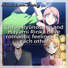 Anime: Assassination Classroom Characters: Chiba Ryūnosuke and Hayami Rinka