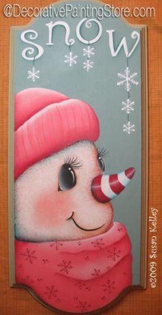Snow Charming ePacket - Susan Kelley - PDF DOWNLOAD #paintingpattern #paintingepattern #snowman