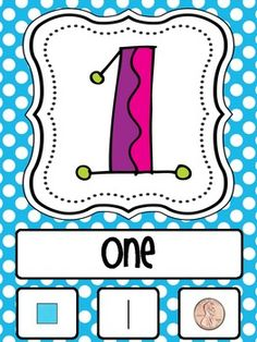 Number Posters from 1-20 including the number word, tally marks, coin value and unifix cubes. ...