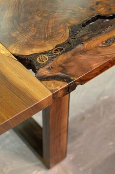 Image of walnut river dining table