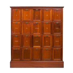 Mahogany File Cabinet with Alphabetized Compartments available at O'Sullivan Antiques http://www.1stdibs.com/furniture_item_zoom.php?id=651075=1