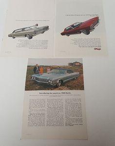 3 Vintage 1966 Buick Gran Sport Riviera Electra Original Full Page Magazine Ads
