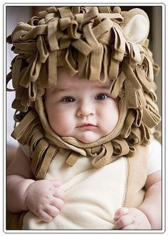 If only I could get Lucy to wear something on her head, I would defiantly make her a lion costume!! It would be so much fun!