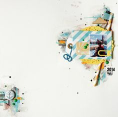 "Andrine og Marens Landhandleri - Blog - ""Sun Fun"" layout created by Dt Linda."