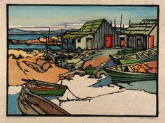 Chinese Fisheries--Monterey ca. 1920 William S. Rice Born: Manheim, Pennsylvania 1873 Died: Oakland, California 1963 color relief on paper image: 12 x 16 1/8 in. (30.5 x 41.1 cm) Smithsonian American Art Museum