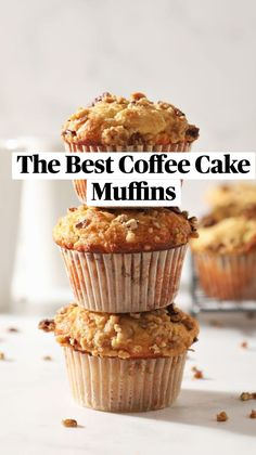 Simple Muffin Recipe, Healthy Muffin Recipes, Healthy Muffins, Simple Cupcake Recipe, Costco Muffin Recipe, Muffin Recipies, Healthy Cupcakes, Coffee Cake Muffins, Bakery Muffins