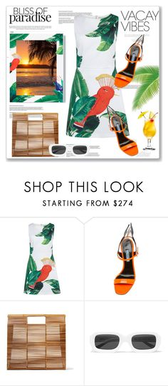 """""""Beach Please: Vacay Outfit"""" by lidia-solymosi ❤ liked on Polyvore featuring Alice + Olivia, Cult Gaia, Illesteva, BeachPlease and vacayoutfit"""
