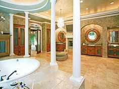 Joey Fatones Orlando Home: Master Bathroom....I could actually live in this one room :-)
