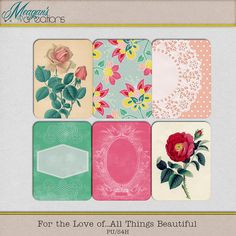 For The Love Of... journal cards freebie from Meagan's Creations