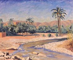 View of Tinherir, also painted in Morocco, was given to US General George Marshall as a symbol of Anglo-American solidarity in 1953. It was sold for £612,800 in 2006