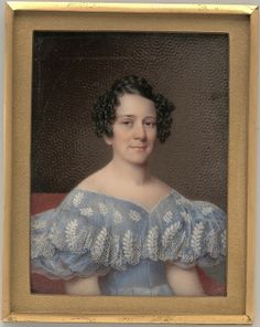 Portrait of a Lady ~ 1835 dress <3 (watercolor on ivory miniature)