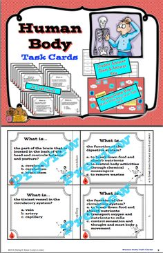 $Do your students need practice with the vocabulary of the human body? This set of task cards will provide a fun way to master terms related to the study of the human body. They also work well for cooperative structures like Quiz/Quiz/Trade, Fan & Pick, Show Down, or Numbered Heads Together. Included are directions and printable parts for a file folder game that will work with most task card sets. This set includes 24 task cards.