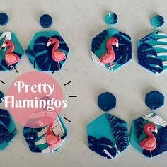 """Leafy Originals Theresa Wilson's Instagram profile post: """"This week's #limitedrelease #earrings are the #Pretty #Flamingos! Fun blue #jungle backgrounds with a lovely pop of #pink and a great teal-…"""" Teal, Blue, Backgrounds, Profile, Pop, The Originals, Pretty, Earrings, Instagram"""