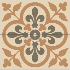 carrelage ciment coeur de lys moutarde Texture, Decoration, Mandala, Flooring, Home Decor, Dollhouses, Mosaics, Miniatures, Dibujo