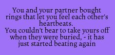 You and your partner bought rings that let you feel each other's heartbeats...