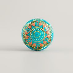 If you're a fan of eclectic design, you'll love our Turquoise Painted Wooden Knobs with their smooth shape and gorgeous hand-painted henna-inspired relief detail. They'll add unique, eye-catching style to your favorite dresser or nightstand, and the low price makes them even more appealing.
