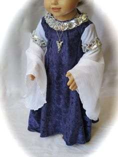 LOTR Arwen's Blue Rivendell Gown with by RainbowLilyDesigns, $40.00