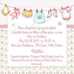 Convites Para Chá De Fraldas Delicados Mensagens E Frases Baby