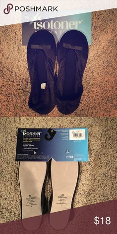 Isotoner Slippers Black Size Small NWT Brand new. isotoner Shoes Slippers