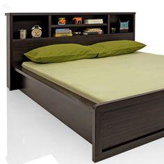 Buy Royal Oak Bed Queen With Dark Finish Online India   Zansaar Furniture  Store