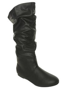 Faux Leather Slouch Boot from Wet Seal