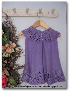 lindapendante dreams: Meredith Lace Knit Baby Dress