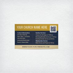 Mini church invite card 35x2 be our guest mission pinterest a 3 x 25 invitation highlighting your churchs contact information and service times fandeluxe Image collections