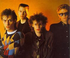 From my scrap book--- homage to Bauhaus. Vintage Goth, Bauhaus Band, Song To The Siren, Love And Rockets, 80s Goth, Goth Bands, Goth Subculture, Goth Music, Siouxsie & The Banshees