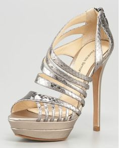 Alexandre Birman Metallic Sandal