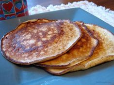 """Low-Carb, Atkins Induction Friendly Cream Cheese Pancakes. I just made these and they were pretty good even without syrup! They even helped with the """"I need bread! I haven't eaten it in two weeks!"""" feeling. Next time I might add a second packet of stevia since I'm not using the low carb syrup."""
