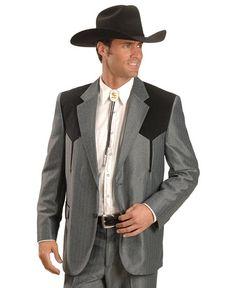 Circle S Boise Contrasting Yoke Western Suit Jacket
