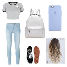 """Untitled #39"" by simplyrosa on Polyvore featuring WithChic, Frame Denim and Vans"