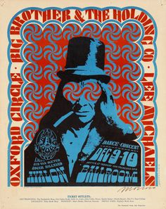 Big Brother and the Holding Company/Oxford Circle/Lee Michaels, December 9 & 10, 1966 Avalon Ballroom (San Francisco, CA) Art by Victor Moscoso