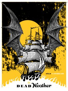 gig posters | the dead weather # dead weather # tour poster