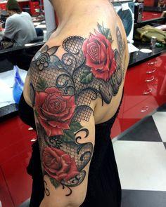 most beautiful lace tattoos