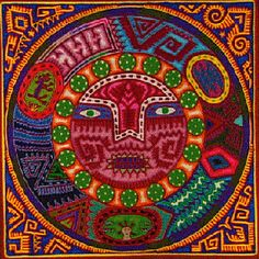 Yarn painting - images of a vanishing culture : Mexico Culture & Arts Psychedelic Art, South American Art, Yarn Painting, Mexico Culture, Mexican Folk Art, Aboriginal Art, Bead Art, Indian Art, Beads