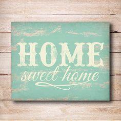 Home Sweet Home Print - Rustic Home decor Typography Printable