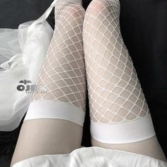 Baby Pink Aesthetic, Daddy Aesthetic, Aesthetic Clothes, Skinny Girls, Black White Red, Fishnet, Thigh Highs, Women Lingerie, Thighs