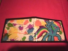 My Little Pony Rainbow Dash Duct tape Wallet. $14.00, via Etsy.