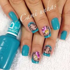 Unha diferente de Cami Unhas. Different nail. Uña diferente. Unghie different.
