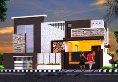 House Balcony Design, 2 Storey House Design, Duplex House Design, House Front Design, Front Door Design Wood, Room Door Design, Duplex House Plans, My House Plans, House Elevation