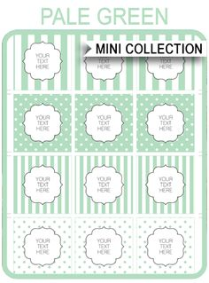 free green baby shower printable templates