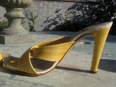 Vintage 60s Italian Patent Leather Sandals  by ErmaJewelsVintage, $10.00