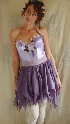 Violetta Fairy Dress Halloween Costume... Size M... whimsical fancy dress party pixie purple flower fantasy mid summer nights dream by Jada Dreaming on Etsy $145
