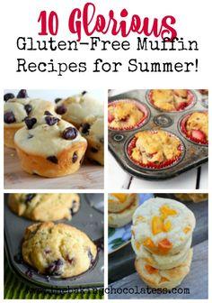 10 Glorious Gluten-Free Muffin Recipes for Summer! via @https://www.pinterest.com/BaknChocolaTess/