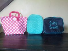 Side by side comparison of: Thermal Tote, Chill-icious Thermal & Cool Case Thermal.