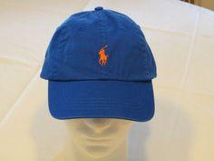 Mens Polo Ralph Lauren hat cap golf casual Blue Reef 538002 adjustable classic…