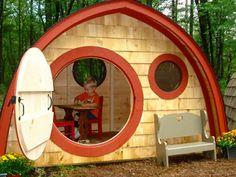 gartenhaus selber bauen hobbit haus kinder spielen
